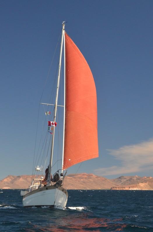 Wahkuna under sail