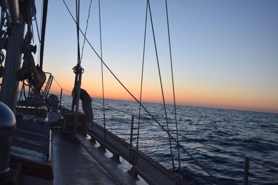 Crossing the Sea of Cortez, sunrise