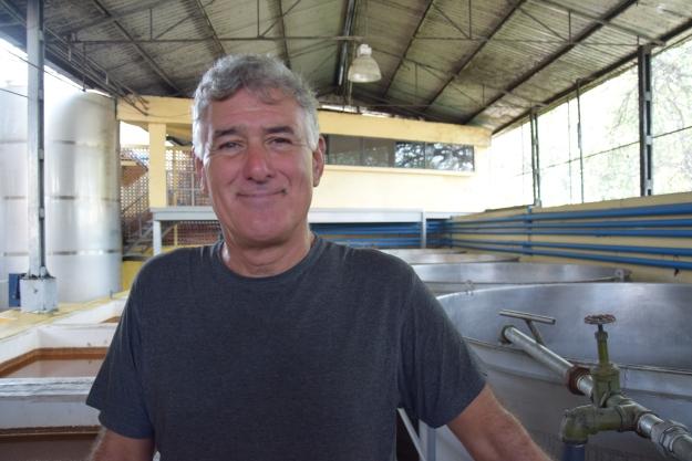 Robert dans une distilerie de Tequila