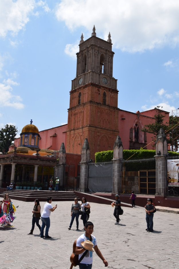 Church of the main square from San Miguel de Allende