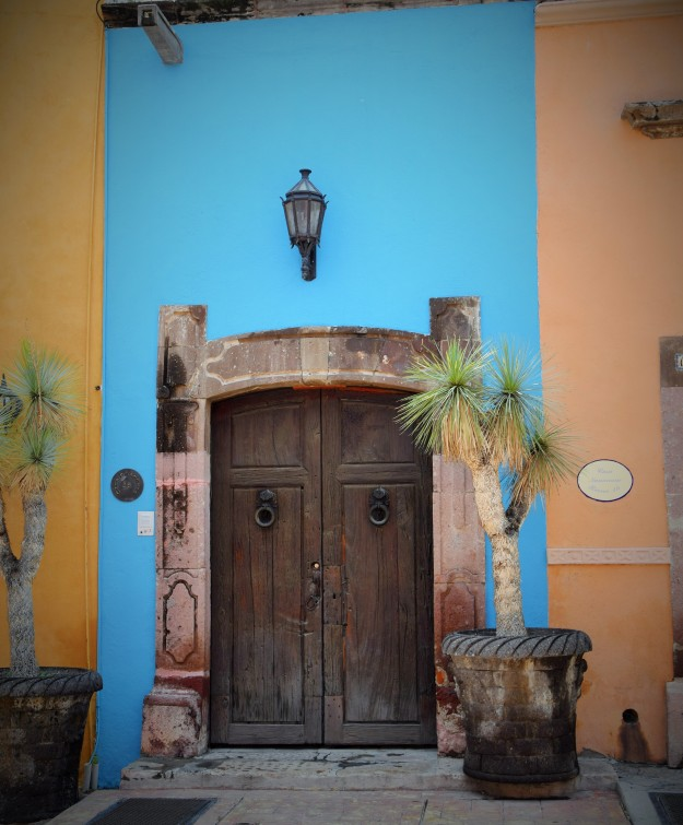 Beautiful door of San Miguel de Allende