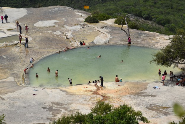 Natural sediment water pool, the water is cold