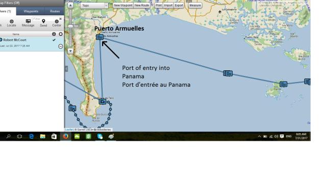 Puerto Armuelles map