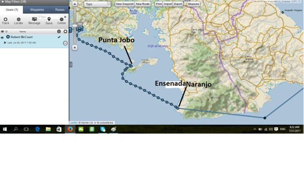 Punta Jobo and Ensenada Naranjo map