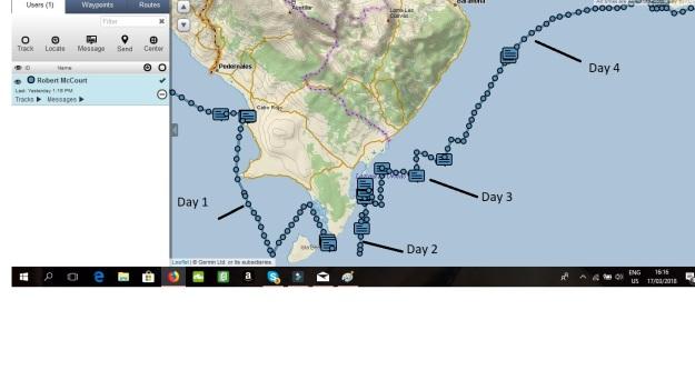 Crossing Punta Beata map