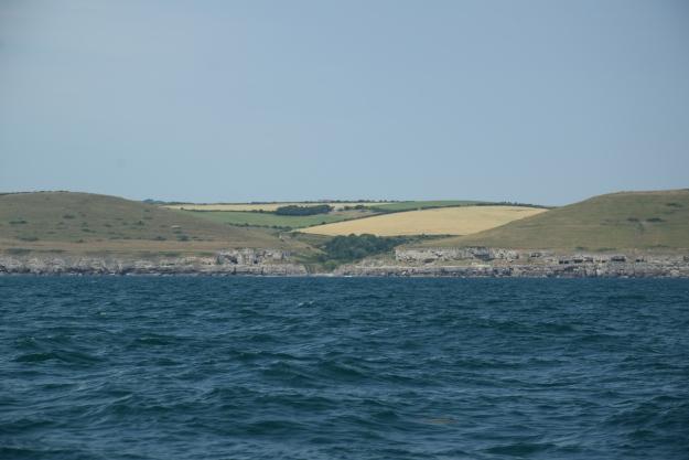 Paysage de la côte sud de l'Angleterre